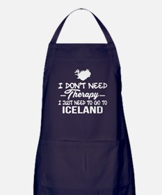 I Just Need To Go To Iceland T Shirt Apron (dark)