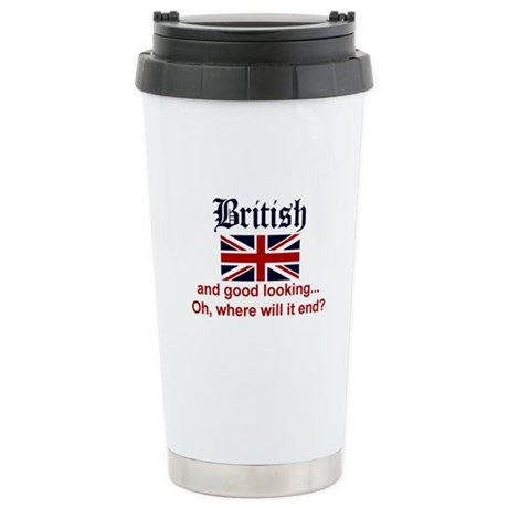 Good Looking British Stainless Steel Travel Mug