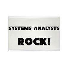 Systems Analysts ROCK Rectangle Magnet