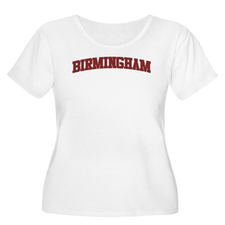 BIRMINGHAM Design Women's Plus Size Scoop Neck T-S
