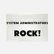 System Administrators ROCK Rectangle Magnet