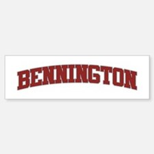 BENNINGTON Design Bumper Bumper Bumper Sticker