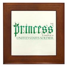 Princess Is Taken (Soldier) Framed Tile