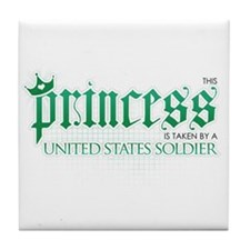 Princess Is Taken (Soldier) Tile Coaster