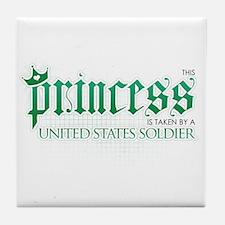 Princess Is Taken (Soldier) Tile Coaster