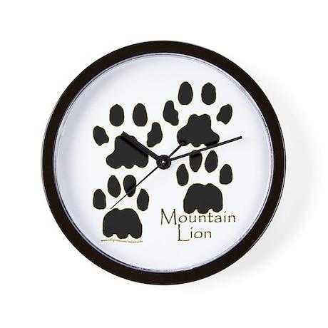 Mountain Lion Tracks Wall Clock