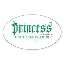 Princess Is Taken (Soldier) Oval Decal