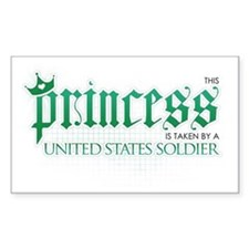 Princess Is Taken (Soldier) Rectangle Decal