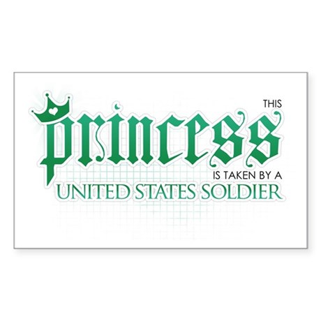 Princess Is Taken (Soldier) Rectangle Sticker