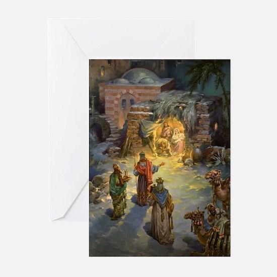 Vintage Christmas Nativity Greeting Cards