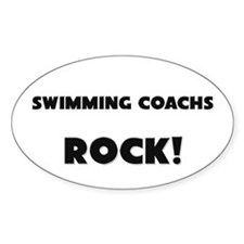 Swimming Coachs ROCK Oval Decal