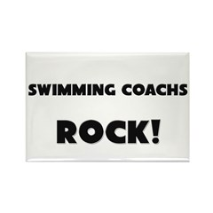 Swimming Coachs ROCK Rectangle Magnet