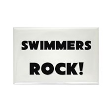 Swimmers ROCK Rectangle Magnet