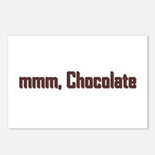 mmm, Chocolate Postcards (Package of 8)