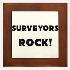Surveyors ROCK Framed Tile