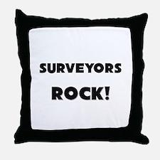 Surveyors ROCK Throw Pillow