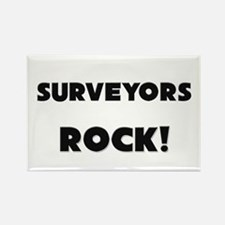 Surveyors ROCK Rectangle Magnet