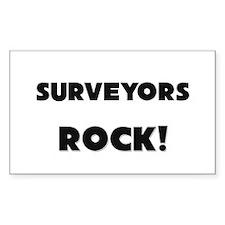 Surveyors ROCK Rectangle Decal