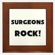 Surgeons ROCK Framed Tile