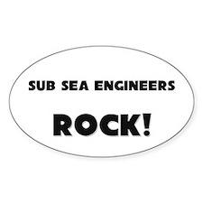Sub Sea Engineers ROCK Oval Decal
