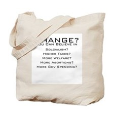 Change what Obama? Tote Bag