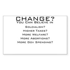 Change what Obama? Rectangle Decal