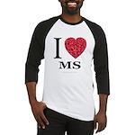 I Love MS Baseball Jersey