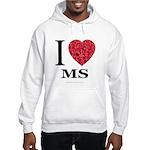 I Love MS Hooded Sweatshirt