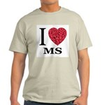 I Love MS Ash Grey T-Shirt