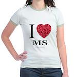 I Love MS Jr. Ringer T-Shirt