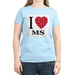 I Love MS Women's Pink T-Shirt