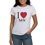I Love MS Women's T-Shirt