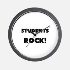 Students ROCK Wall Clock