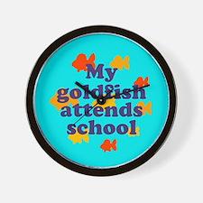 Goldfish attends school. Wall Clock