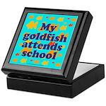 Goldfish attends school. Keepsake Box