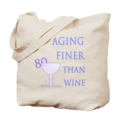 Witty 80th Birthday Tote Bag