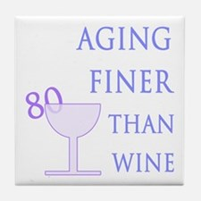 Witty 80th Birthday Tile Coaster