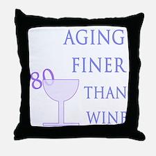 Witty 80th Birthday Throw Pillow