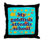 Goldfish attends school. Throw Pillow