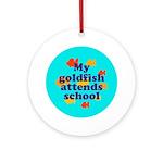 Goldfish attends school. Keepsake (Round)