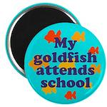 Goldfish attends school. Magnet