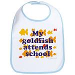 Goldfish attends school. Bib