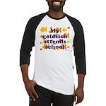 Goldfish attends school. Baseball Jersey