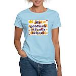 Goldfish attends school. Women's Pink T-Shirt