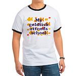 Goldfish attends school. Ringer T