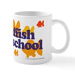 Goldfish attends school. Mug