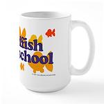 Goldfish attends school. Large Mug
