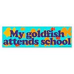 Goldfish attends school. Bumper Sticker