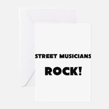 Street Musicians ROCK Greeting Cards (Pk of 10)