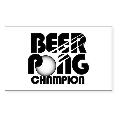 Beer Pong Rectangle Sticker